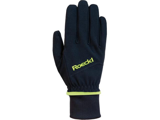 Roeckl WS Gants, black/yellow